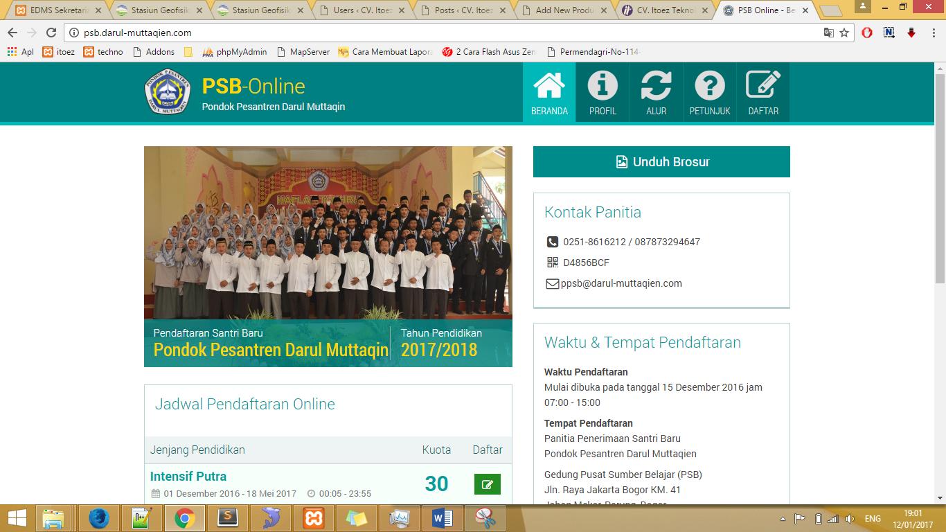 PPDB / PSB Online PP Darul Muttaqin Bogor