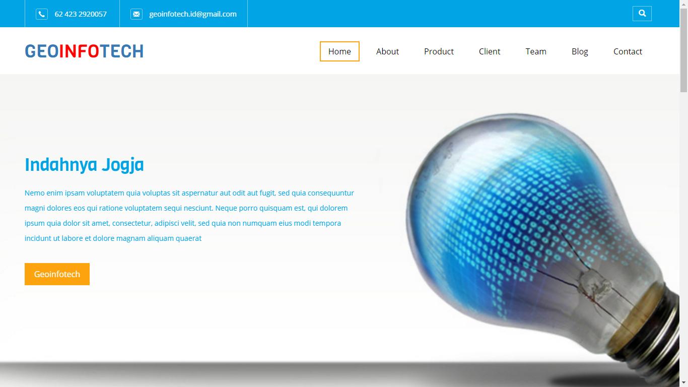 Website Company Profile Geoinfotech Toraja Utara